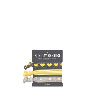 For the bun before the blowout! Strong, comfortable hair ties. Set of 3.