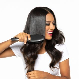 Your boar bristle bestie! A handcrafted boar bristle brush designed to add shine and smooth hair as it gently massages and stimulates the scalp.