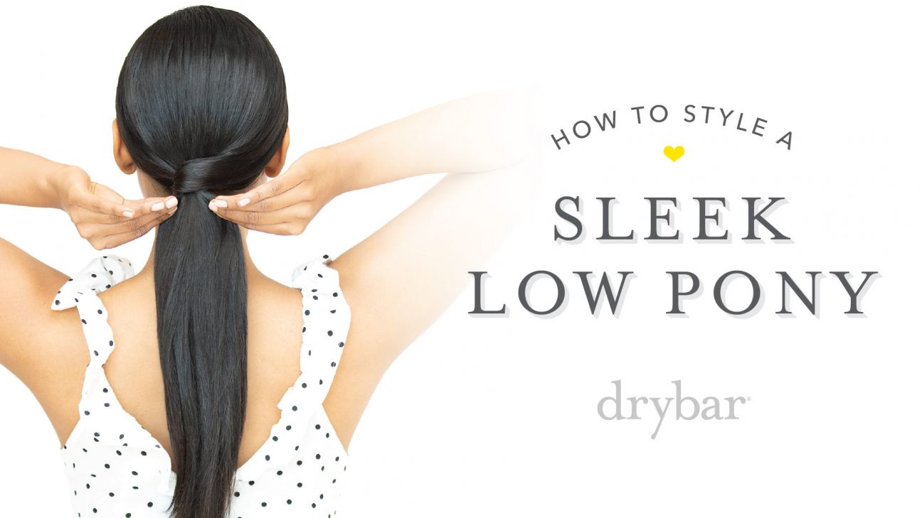 Special Occasion Hairstyle: Sleek Low Pony