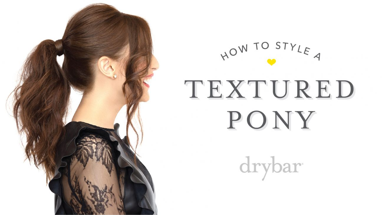 Special Occasion Hairstyle: Textured Pony