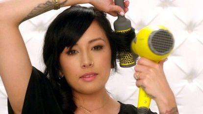 Round Brush Hair Styling Technique