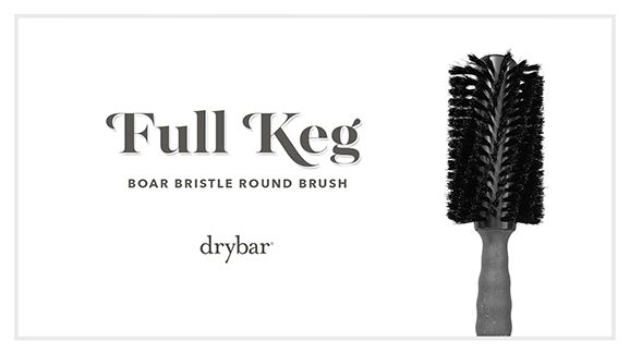 Full Keg Boar Bristle Round Brush Video