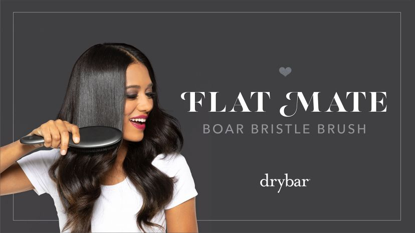 Flat Mate Boar Bristle Brush Video