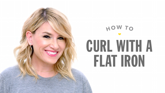 How to Curl Hair with a Flat Iron