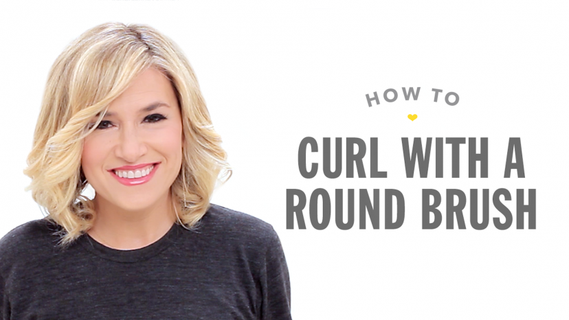 How to Curl with a Round Brush video