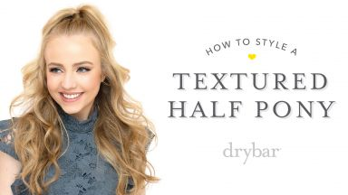 Special Occasion Hairstyle: Textured Half Pony