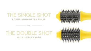 The Single Shot Vs. The Double Shot Blow-Dryer Brushes