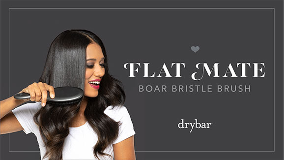 Flat Mate Boar Bristle Brush Video