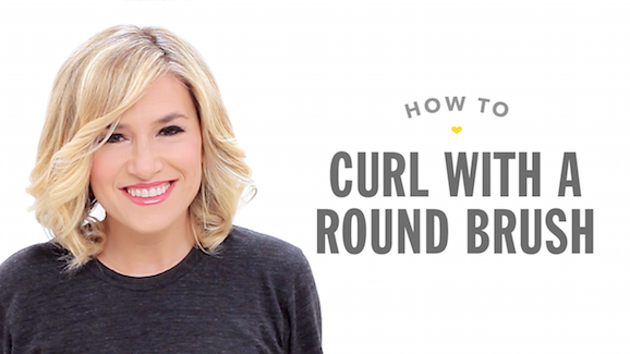 How To Curl Hair With a Round Brush Video